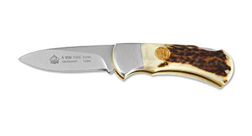 Puma Brown Watch - Puma 210700 4-Star Mini Staghorn Folding Knife, Plain Stag