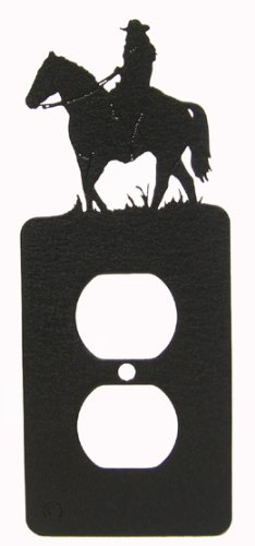 Female Horseback Rider Power Outlet Plate Cover