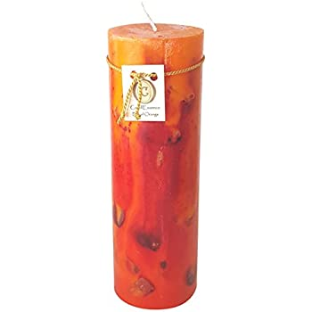 Handmade scented candle long burning pillar sandalwood scent medium home - Burning scented candles home dangerous really ...