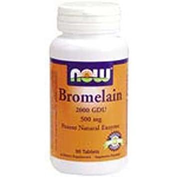 Amazon.com: Now Foods Bromelain 2000 GDU 90 tabs 500 mg ...
