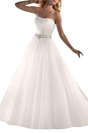 Gorgeous Bride Modisch Traegerlos Tuell Paillette Lang Brautkleider ...