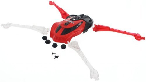 Traxxas LaTrax Alias Quadcopter * RED CANOPY & LED LENS FEET * Non-Skid Screws