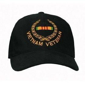 Rothco Vietnam Veteran/Insignia Cap, Black (Veteran Insignia Cap)
