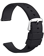 Sandein Watch Bands - Silicone Quick Release Soft Rubber Replacement Watch Strap - Compatible with 18mm, 20mm, 22mm Watch Straps