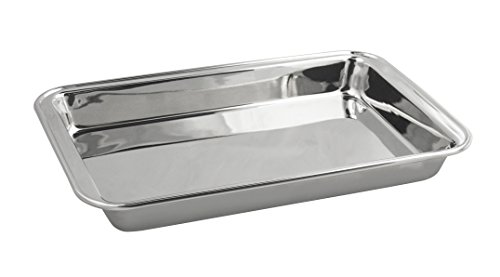 Fox Run Stainless Steel Bake Pan, 12.375 x 8 x 1.25-Inch