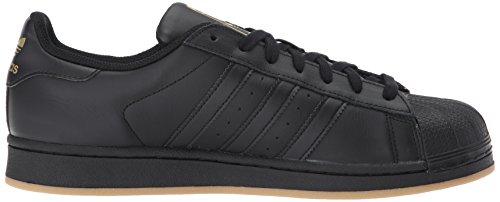 Adidas Heren Superster Zwart / Metallic Goud / Gum