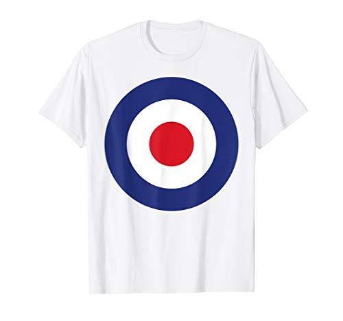 RAF Roundel British Target Logo Bullseye Pop Art & MOD Tee