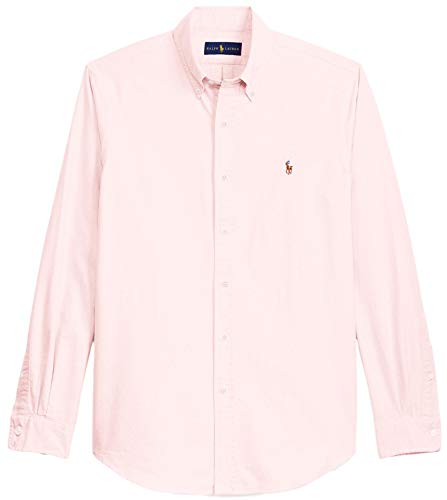 Ralph Lauren Men Solid Sport Oxford Shirt (M, BasicPink)