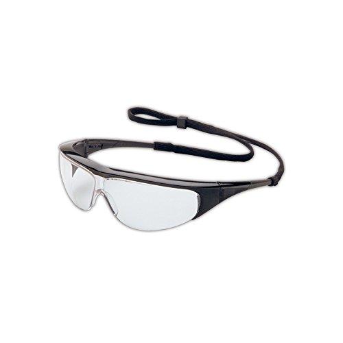 Uvex 11150350 Millennia Safety Eyewear, Black Frame, Clear Ultra-Dura Hardcoat Lens ()