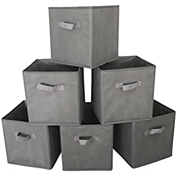 Marvel O Bug Set Of 6 Foldable Cloth Storage Cube Basket Bins Organizer  Containers Drawers,