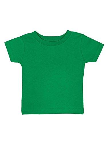 Rabbit Skins 100% Cotton Blank Infant Football Jersey Tee [Size 12 Months ] Green Short Sleeve T-Shirt
