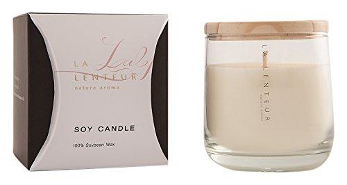 HAKKU Hair Iron [LALENTEUR] Aroma Soy Candle Santal Ambre Scent Medium Clear ELECONCE Soy Candle-Santal Ambre