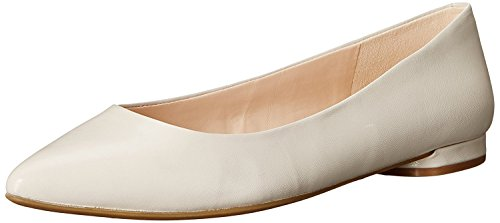 Nine West WomenS Onlee Leather Ballet Flat, Light Grey, 36.5 B(M) EU/4.5 B(M) UK