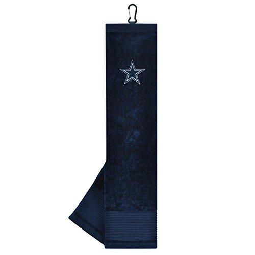 Team Effort NFL Dallas Cowboys Face/Club Tri-Fold Embroidered Towel