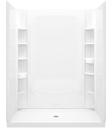 (STERLING, a KOHLER Company Plumbing STORE+ 60 In W. x 34 In. L x 72-1/2 In. H Shower, White)