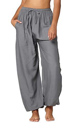 - Conceited Boho Harem Yoga Pants - Drawstring Solid Seafoam - Plus Size