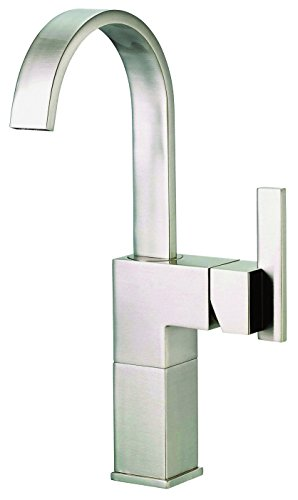 us Single Handle Vessel Filler Lavatory Faucet, Brushed Nickel (Sirius Sink Faucet)