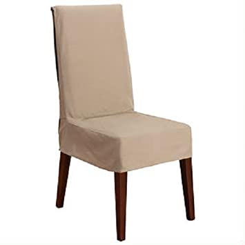 Sure Fit Cotton Duck Shorty Dining Room Chair Cover Linen Amazon