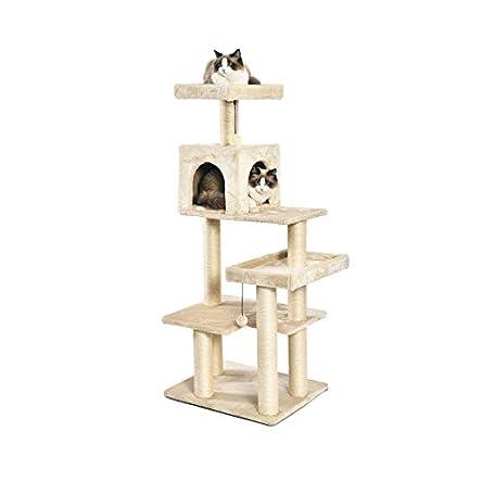 Amazon Basics Multi-Level Cat Tree with Scratching...
