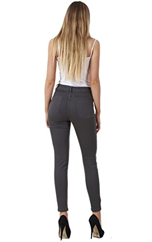 Gunmetal Slim Cotton Womens Quality Ladies Jeans Denim Skinny Fit Stretch xI1qwwzF
