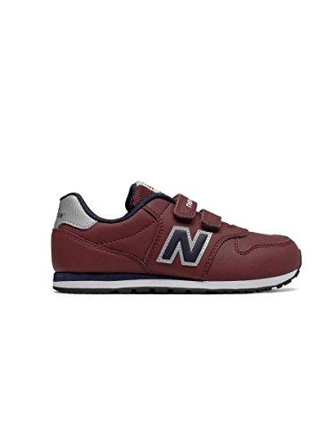 New Balance Kv500 Gey, Zapatillas de Deporte Unisex Niños burdeos
