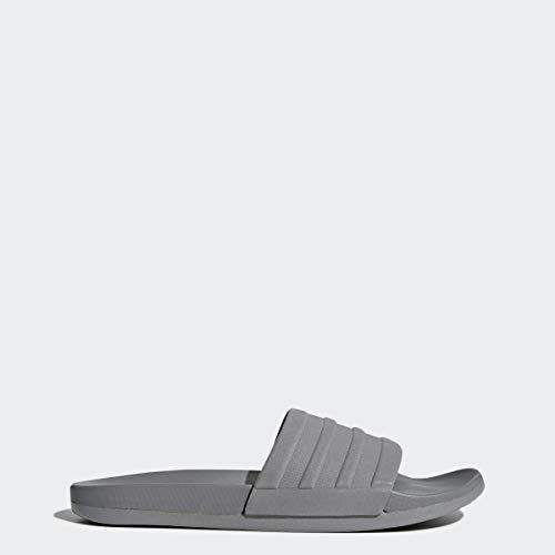 adidas Mens Adilette Comfort Swim Shoe, Grey/Grey/Grey, 12 M US