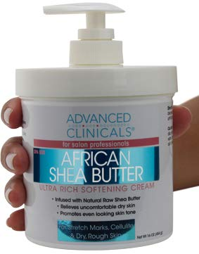 Advanced Clinicals Spa Size Shea Butter Ultra Rich Softening