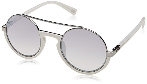 Marc Jacobs Unisex Marc 217/S White With Grey Mirror Silver Lens Sunglasses by Marc Jacobs