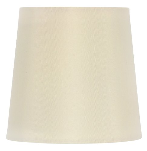 Upgradelights 7 Inch Chandelier Lampshade with Nickel Bulb Clip (Eggshell)