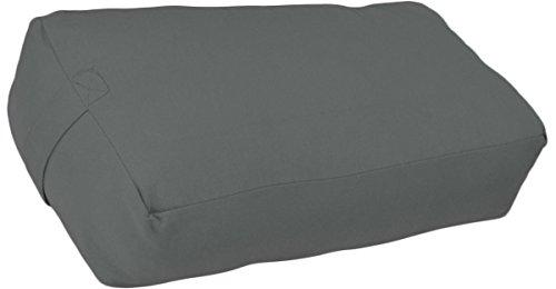 YogaAccessories Supportive Rectangular Cotton Yoga Bolster (Light Gray)