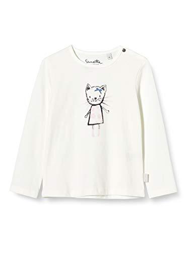 Sanetta Shirt ivory meisjes Shirt met lange mouwen voor meisjes in off-white met schattige Emma the cat print op de…