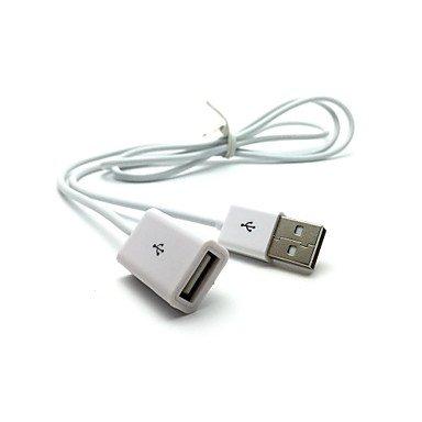 azazaz @ prolongateur de câble USB Chargeur de 1m Blanc, White