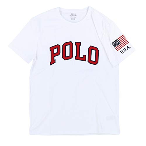 Polo Ralph Lauren Mens Polo Embellished Graphic T-Shirt (Small, White) ()
