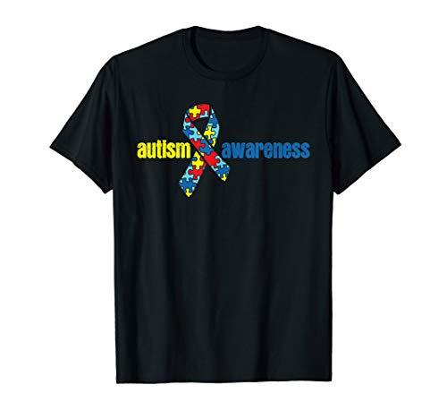 Autism T Shirt Autism Awareness Tee Ribbon Puzzle Piece Gift Autism Awareness Puzzle Ribbon