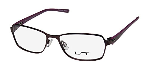 Plastic Full Rim (Lightec 7070l Mens/Womens Ophthalmic In Style Designer Full-rim Spring Hinges Eyeglasses/Eyewear (50-15-135, Plum / Violet))