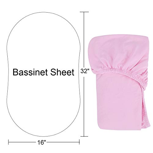 Bassinet Sheet 100% Natural Cotton Crib Fitted Sheets Baby Sheet for Toddler mattresses Nursery Bedding Sheet for Boys…