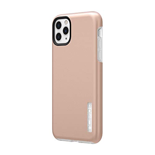 Incipio DualPro Dual Layer Case for Apple iPhone 11 Pro Max with Flexible Shock-Absorbing Drop-Protection - Iridescent Rose Gold/Frost
