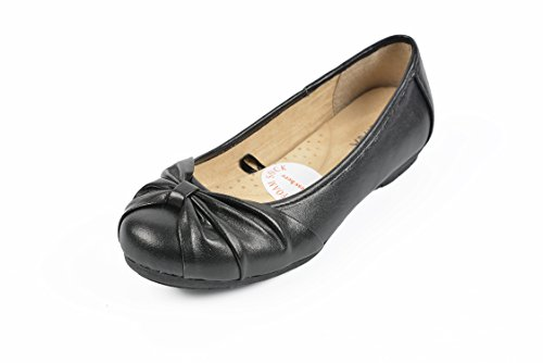 MOC PAPA Girl's Dress Shoes Ballet Flat Shoes with Comfortable Memory Foam Insock