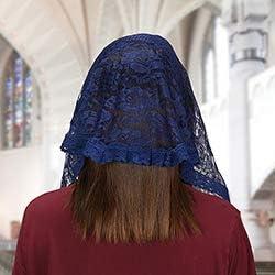 US Gifts Modern Chapel Veil 2//pk