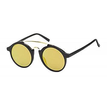 Sonnenbrille Herren 400 UV Metallrahmen schmal sportlich Steg hoch gelb jutFtAv