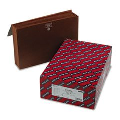 5 1/4'' Accordion Expansion Wallets with Cord, Six Pocket, Redrope, Legal, 10/Box