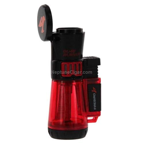 Firebird by Colibri QU4D Quad Torch Cigar and Cigarette Lighter Warranty Red ()