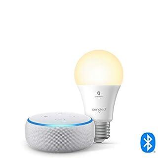 Echo Dot (3rd Gen) - Smart speaker with Alexa - Sandstone Sengled Bluetooth bulb