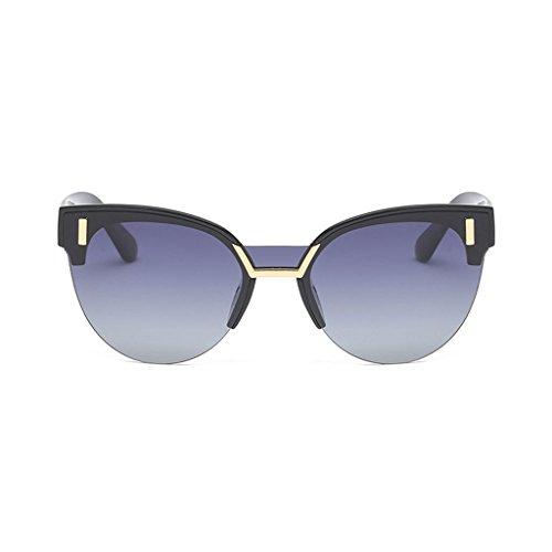 UV Frame Visor Anti al Sun Personality de Gradient Black Gafas Frame Moda Libre Driver Decoración Aire Sol Mirror Half gAgqZT