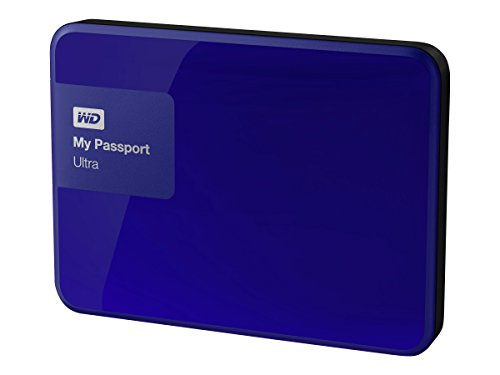 WD 3TB Blue My Passport Ultra Portable External Hard Drive - USB 3.0 - WDBBKD0030BBL-NESN [Old Model] by Western Digital