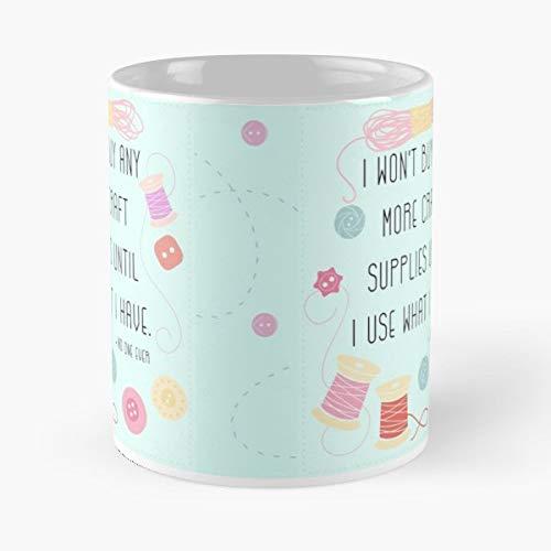 Craft Supplies Typography Motto - Ceramic Mugs