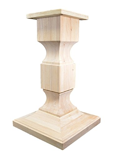 helsea Square Pedestal Table Base (WH-Chelsea28-UNF) ()