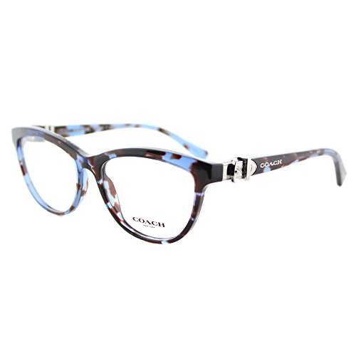 Coach HC 6087 5392 Blue Tortoise Plastic Cat-Eye Eyeglasses 53mm by Coach