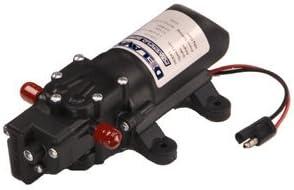 Delavan 2200-301 PowerFlo 12V Demand Diaphragm Pump with 100 PSI Pressure Gauge Bundle, 2 Items