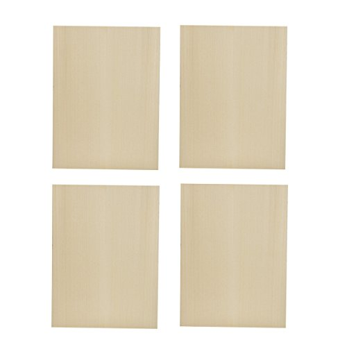 Kmise Ukulele Guitar Tonewood Soundboard Top for Luthier Diy Parts Solid Spruce Wood 300240mm 4 Pcs